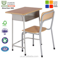 Wholesale School Furniture Single classroom student desk and chair
