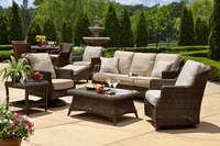 Patio Sectional Furniture Pe Wicker Rattan Sofa Set Brighton Outdoor Patio Garden Furniture