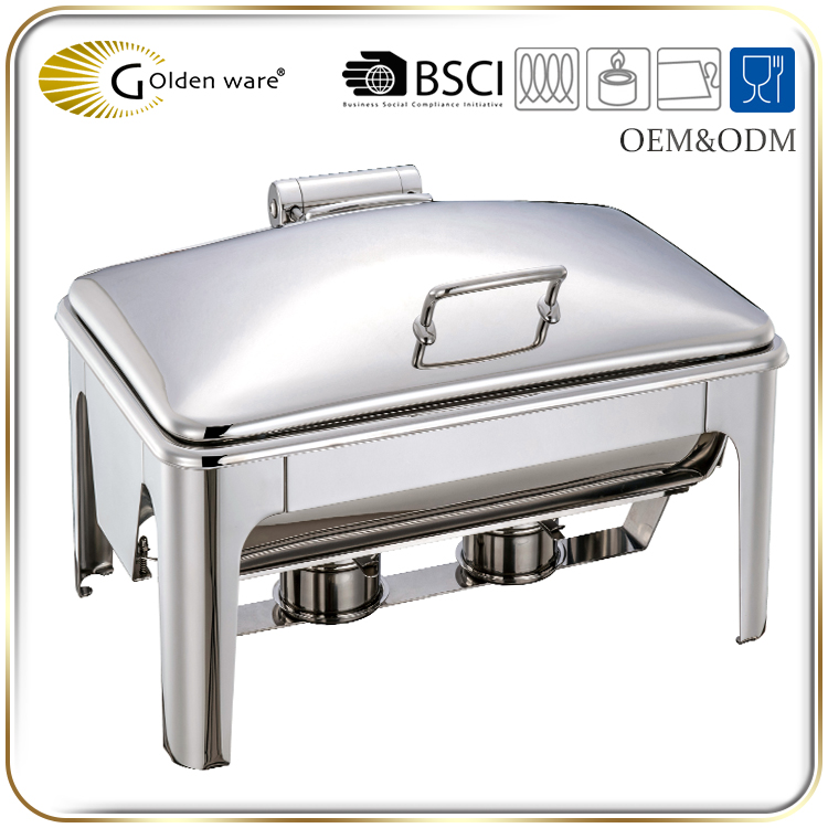 Golden Ware restaurant and hotel 9L Stainless Steel buffet chafing dish