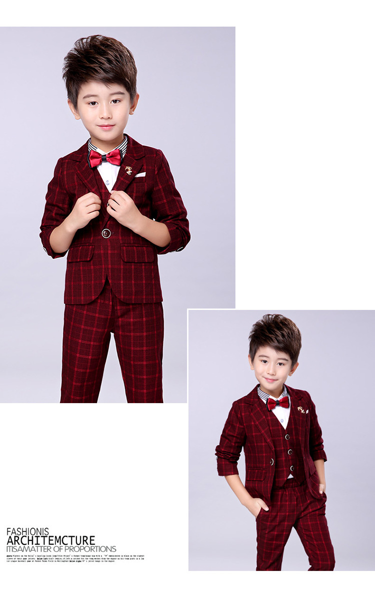 Child Clothes three piece suits formal wear baby boy mens groom suits wedding suits Set