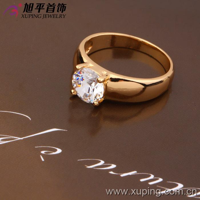 8830532fc9ff 10534 Xuping 18k color oro modelo original anillo de compromiso con  diamante para mujeres