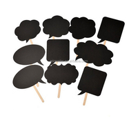 2016 Party Set of 10pcs Wedding or Engagement Photo Booth Signs Photobooth Props Speech Bubbles on a Stick Bridal Shower