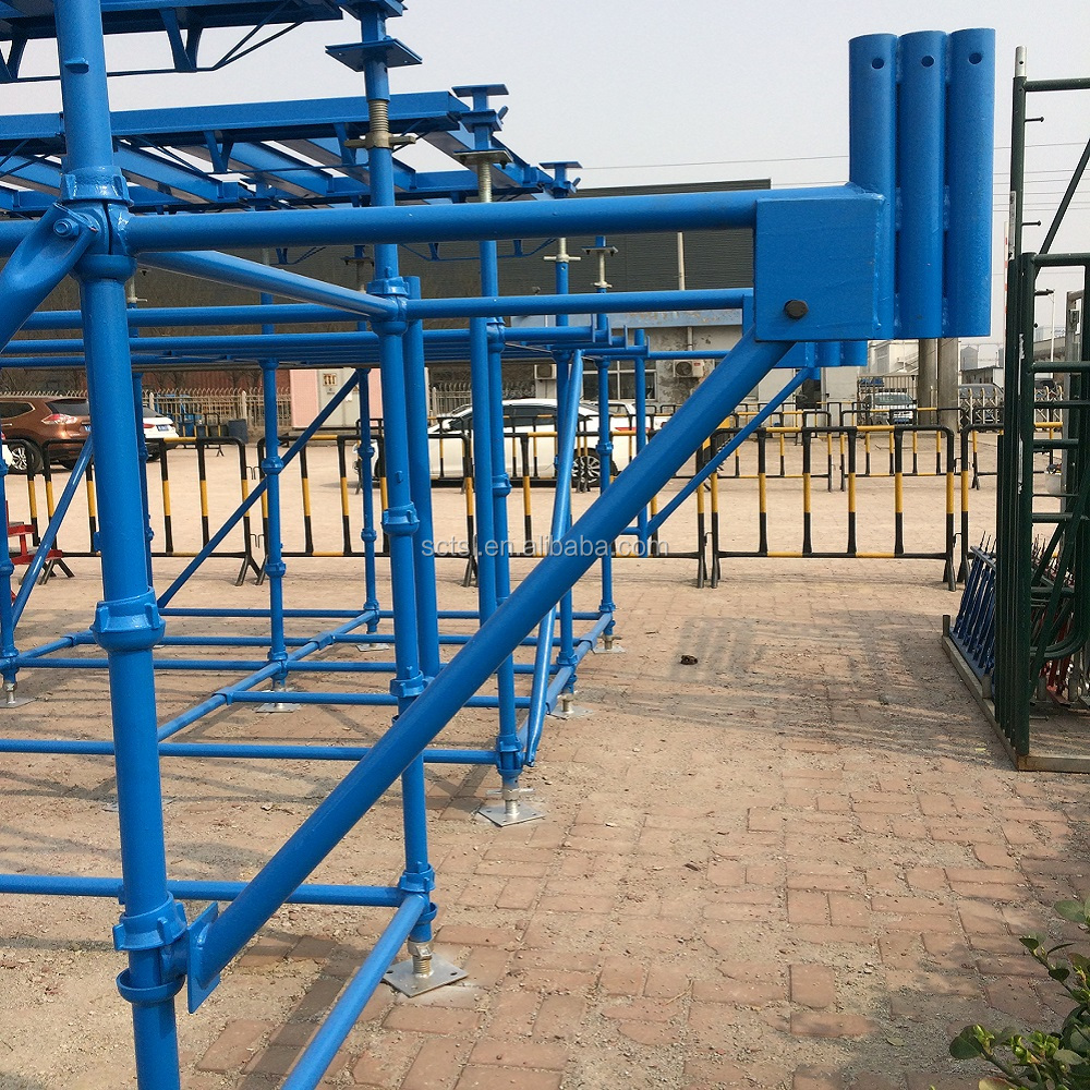 powder coated cuplock scaffolding standard blue color for sale