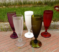Champagne Wine Goblet Glass Wholesale Colored Flute for Wedding