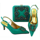 Latest fashion matching ladies italian shoes and bags to match women for African wedding