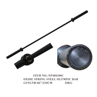 Superior Quality Standard 15kg and 20kg Black Weight lifting Barbell