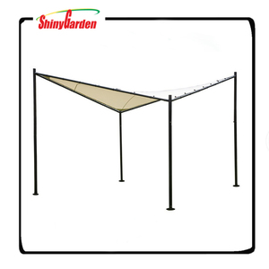 Patio Steel/ Polyester Fabric Square Butterfly Gazebo