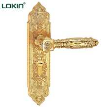 Euro style mortise zinc golden plating home door lock best brands door lock italy