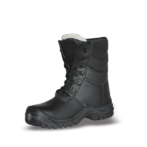 High Quality Half Knee Winter Safety Boots with Genuine Leather