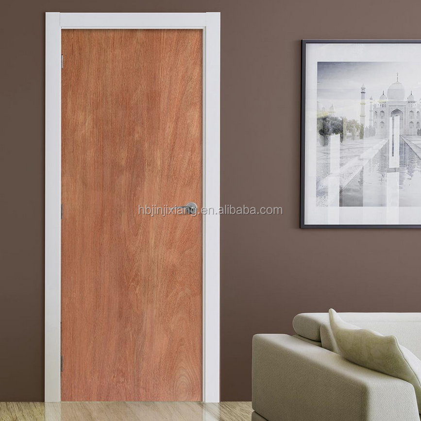 Ply doors ash wood ply pasting glass door hpd497 ply for Plywood door design