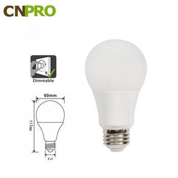 UL Listed 120v 60hz ac E26 9W 990LM Dimmable A19 LED Light Bulb