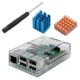 Clear raspberry pi case transparent ABS raspberry pi B+ case with heat sinks&screw driver