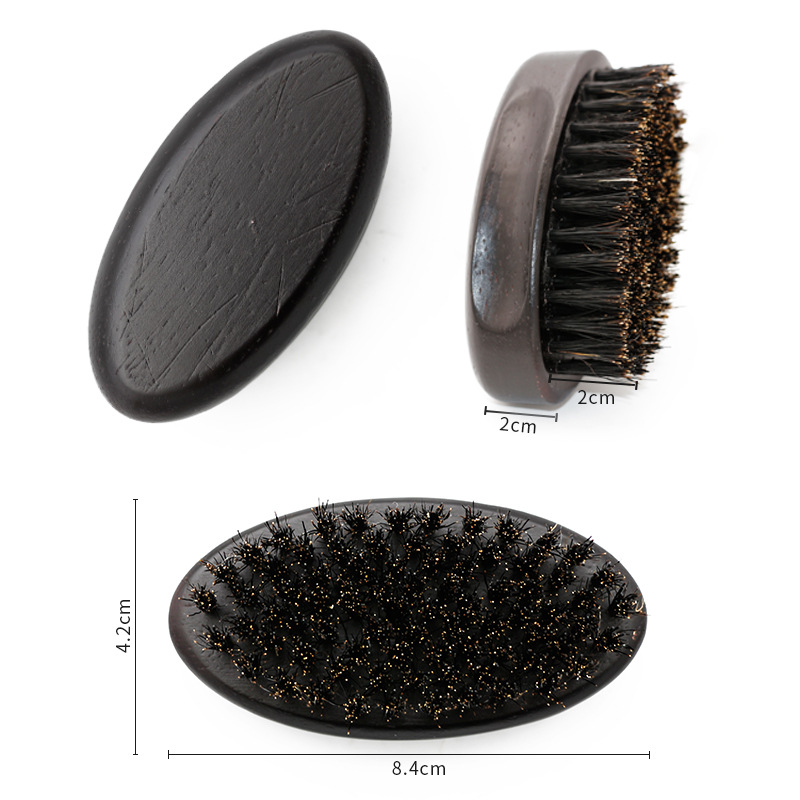 FQ brand boar bristle wooden custom beard brush boar