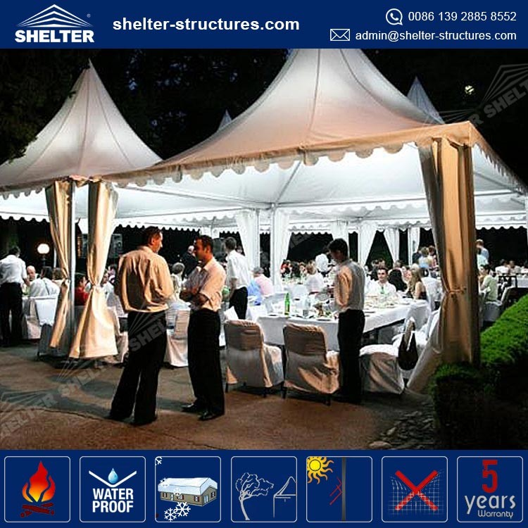 PVC folding outdoor gazebo marquee tent coated fabric waterproof wedding gazebo designs