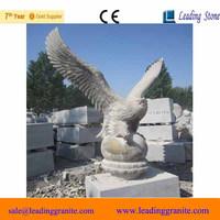 elaborate marble granite stone eagle statue