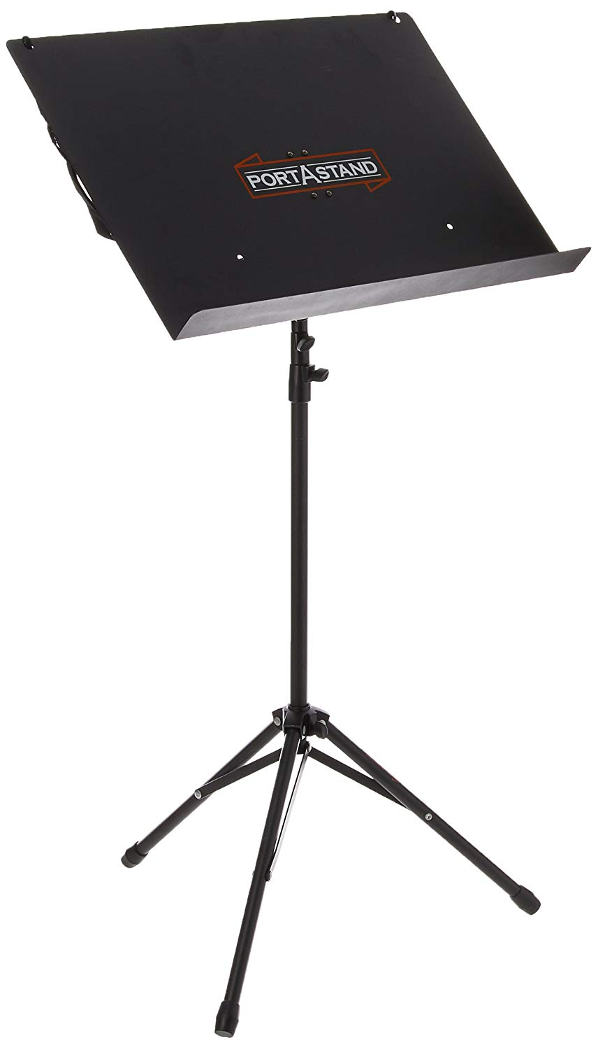 Portastand PASCOM Commoner Music Stand, Black-Steel