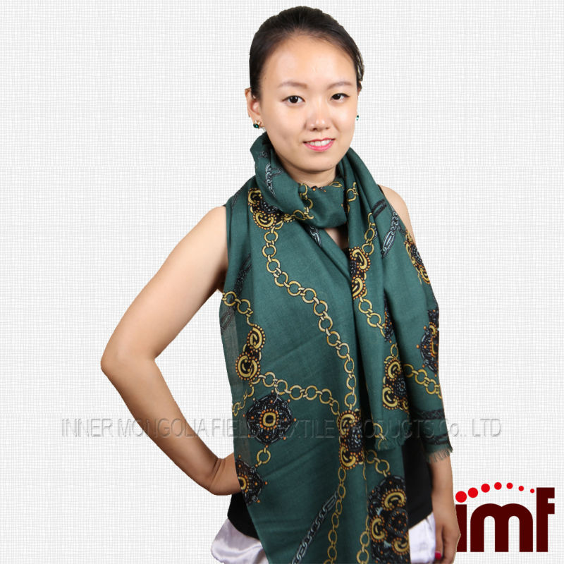 Mercerized wool scarf made in Hohhot