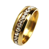 Fashion 316L Surgical Steel Diamond Latest Gold Finger Ring Design