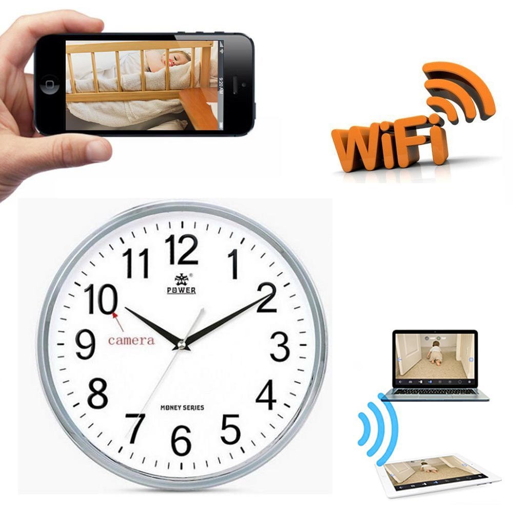 1280720p hd wifi wall clock camera home security system p2p ip 1280720p hd wifi wall clock camera home security system p2p ip dvr nanny cam amipublicfo Images
