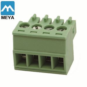 Green PCB board PTR terminal blocks 5.0mm pitch 3.81mm pitch 2pin 3pin 4pin 8pin right angel chinese supplier
