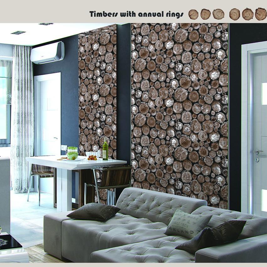 Naturholz Design Pvc 3d Wallpaper Für Wohnzimmer - Buy 3d Tapete Für  Wohnzimmer,Pvc 3d Wallpaper,Holz Design 3d Wallpaper Product on Alibaba.com