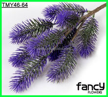 3 heads artificial pine branches for outdoor decoration
