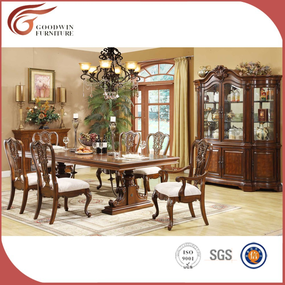 pas cher en bois sculpt table de salle manger ensemble classique salle manger meubles lots. Black Bedroom Furniture Sets. Home Design Ideas