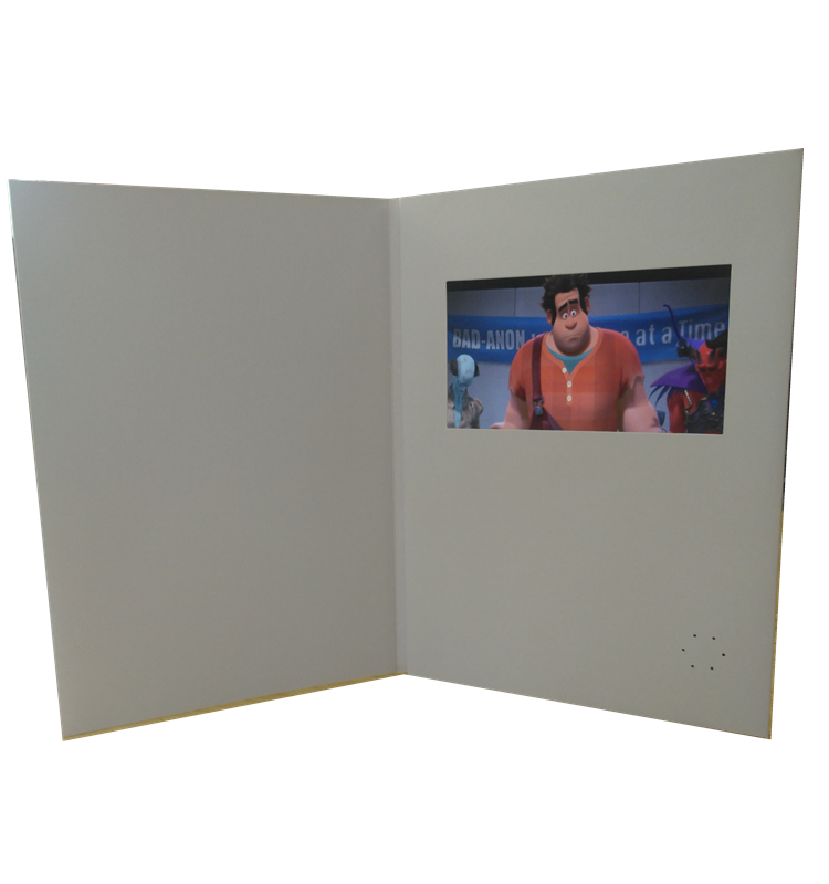 Promotional Products BLANK Video Books, Video Greeting Card, Video Brochure For Advertising