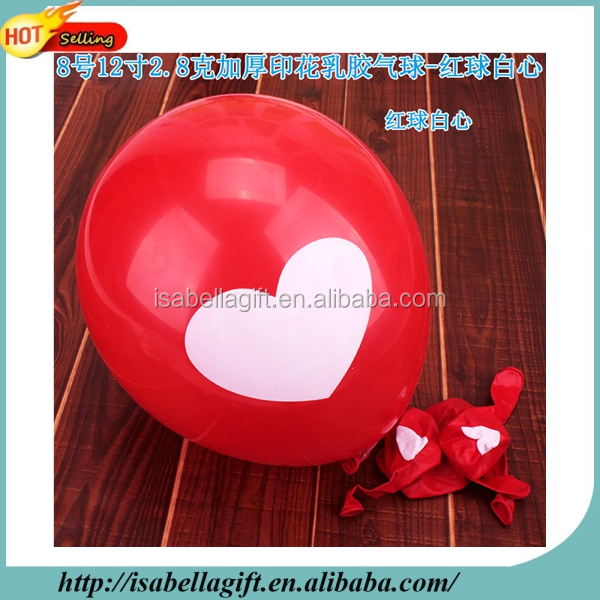Factory selling 12inch heart shape latex red balloon round balloon wedding balloon
