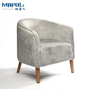 Hotel Furniture Lobby Chair Fabric Upholstered Metal Sofa Chair