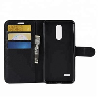 Leather Wallet Phone Case with Card Holder Kickstand Protective Folio Flip Cover for LG K10 2018