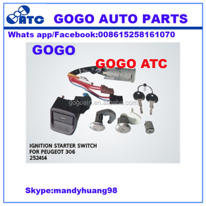 252414 motorcycle tractor ignition switch with key for peugeot 306