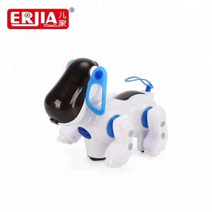 Educational battery operated smart plastic musical robot dog with light