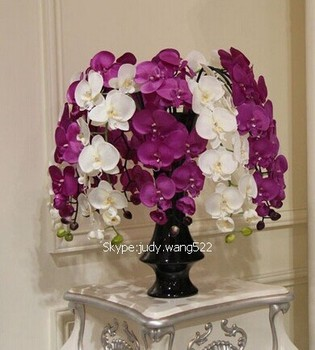 2014 Sj Af035 Wholesale Artificial Orchid Flower Fake Pu