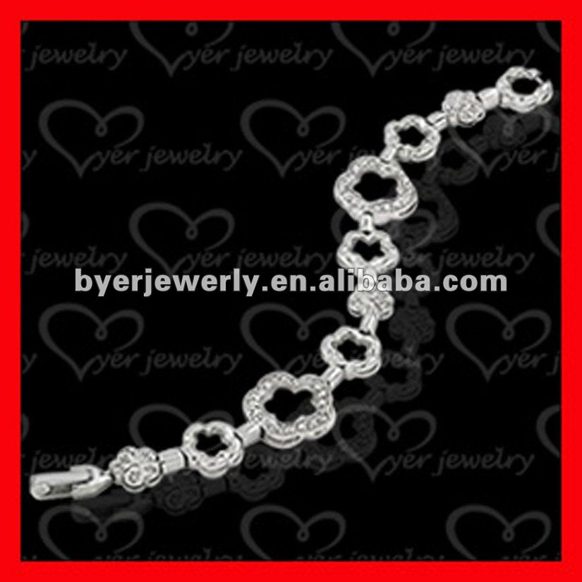 Hot sale 925 silver or brass shamballa bracelet
