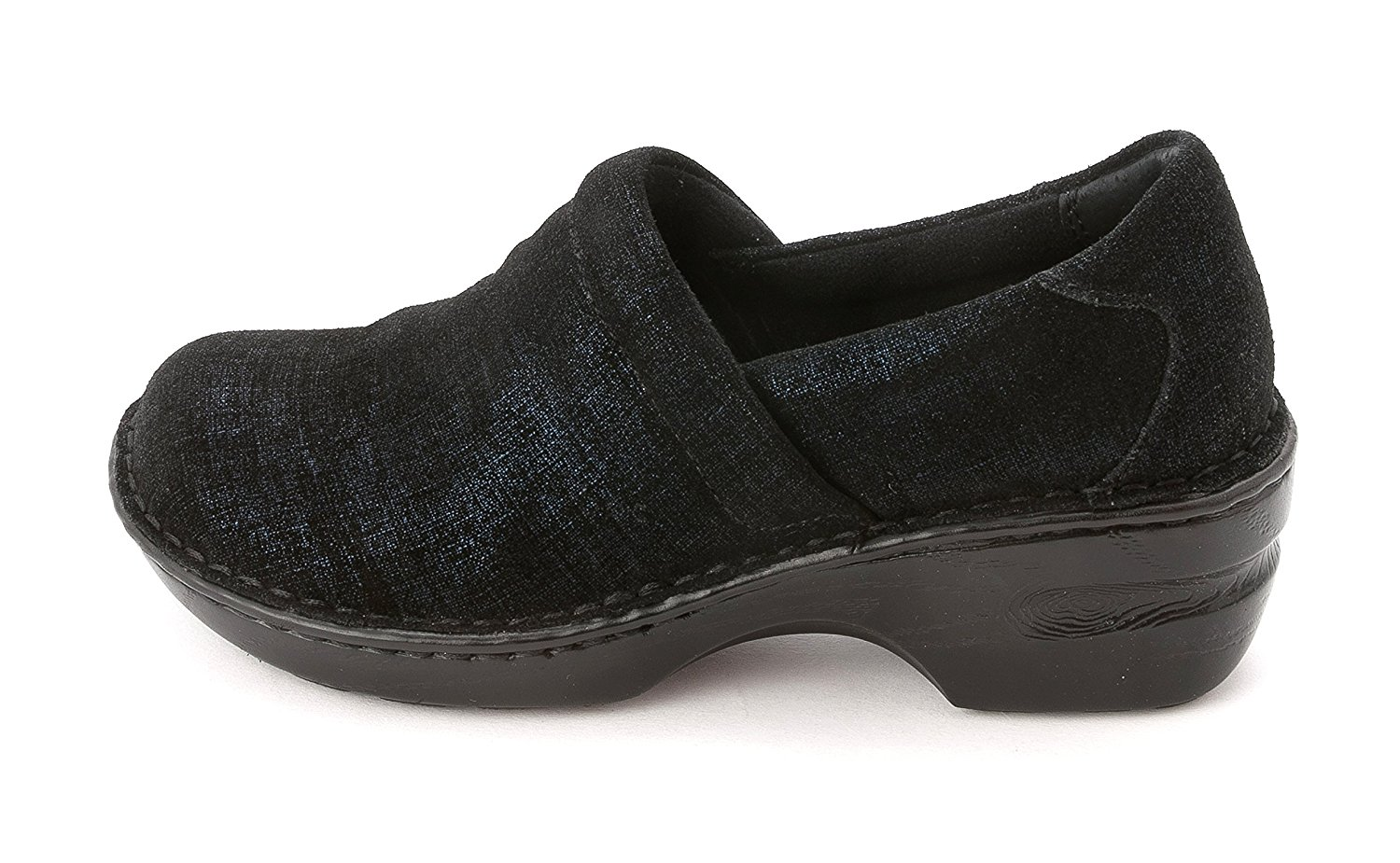 9bab4d74f2616 Get Quotations · BOC Born Concept Margaret Navy Twinkle Metallic Suede  Clogs Women Size 9 M