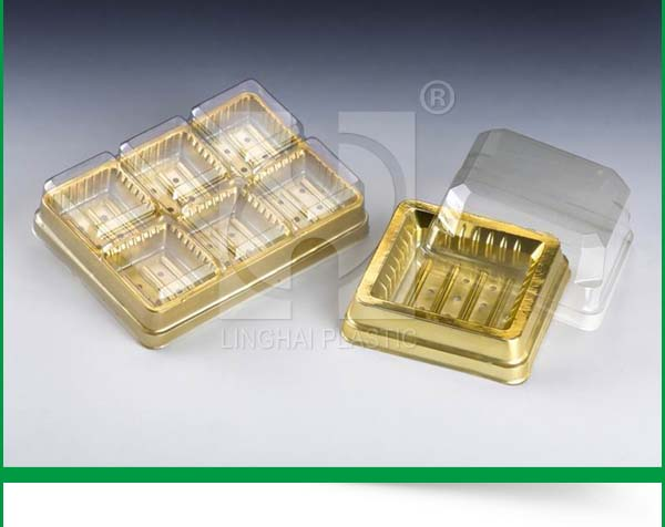 Custom PVC Disposable Plastic Transparent Food Cake Packaging Small Boxes Cake Box