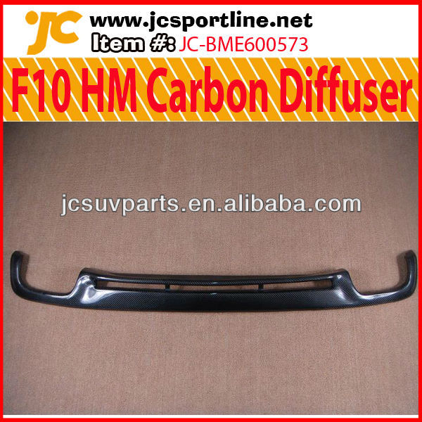 For BMW F10 HM Carbon Diffuser New 5 Series Rear Lip Diffuser