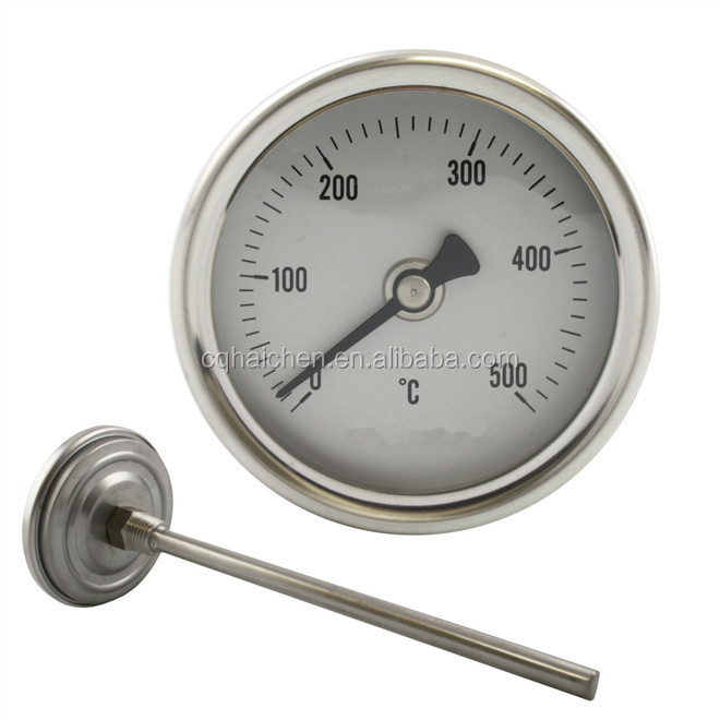 "Solid Metal Industrial Temperature Gauge Dial Probe  1//2/"" BSP 100mm diameter"