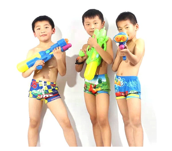 Polyester Swimsuits Kids Boys Swimming Swim Trunks Shorts Slim Factory Direct Sale Bathing Suits Boy Shorts Children