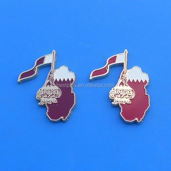 Carte Du Monde Qatar.Qatar Carte Du Monde Et Drapeau De Pays En Metal Aimant De