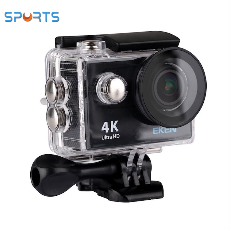 EKEN Newest H9R new package crystal box waterproof wireless 12mp 4k 25fps action camera H9 h9r sports cam
