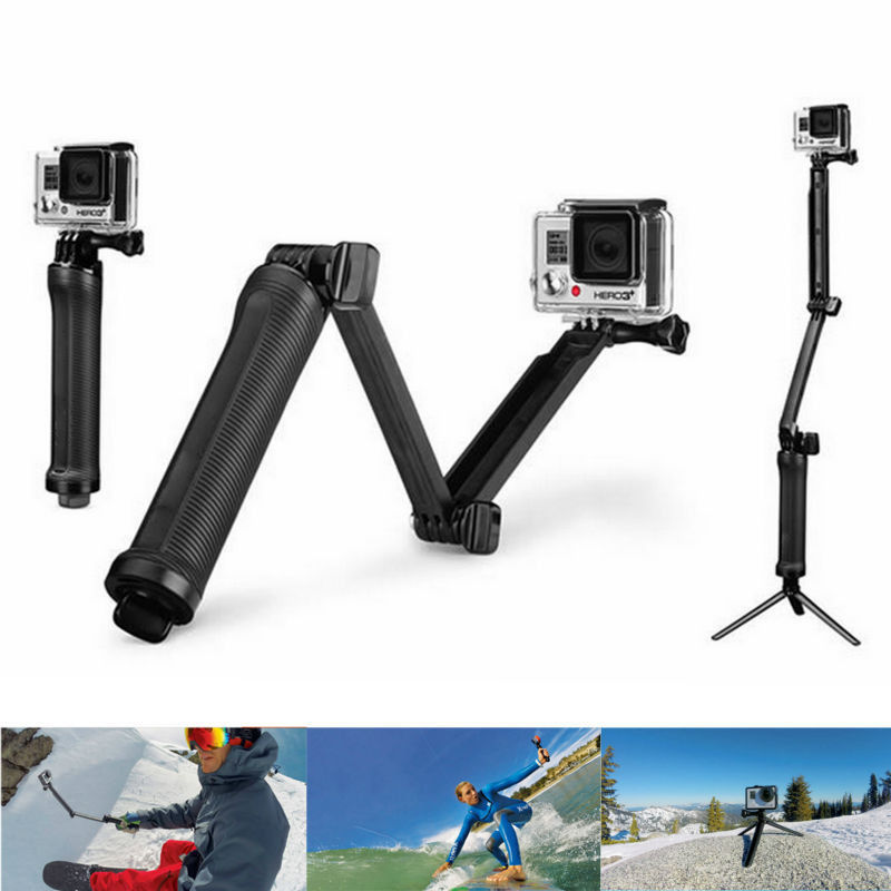 New Arrival Go Pro 3-way Monopod +Tripod+ Grip Super Portable Magic Mount For