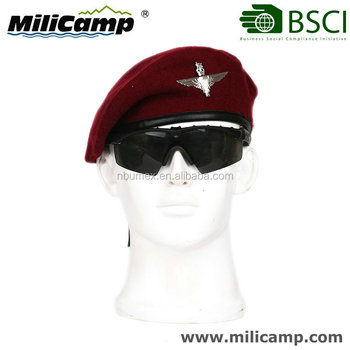 THE RED DEVILS Saudi Arabia commando military wool knitted maroon red beret fc6b38bc86d