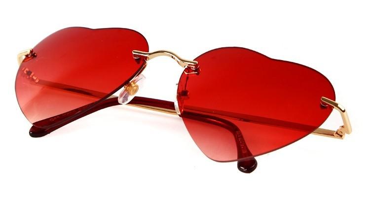 Alibaba gros de la chine marque italienne coeur rouge lunettes de soleil pour femmes Lunettes de soleil ID de produit:500005066650