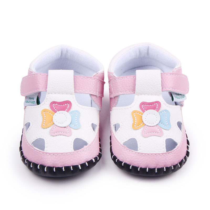 Fancy Leather Handmade Hard Sole Baby Girls Toddler Flower Animal Pattern Baby Casual Shoes