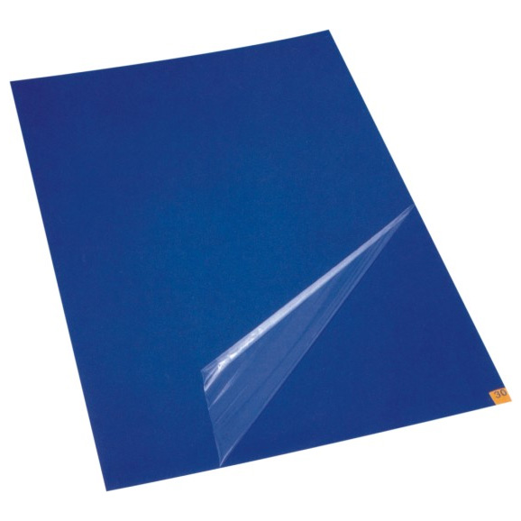 blue peelable Antimicrobial sticky mat