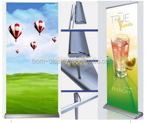 Display Wide and Luxury Aluminum Base With Carrying Bag Outdoor Aluminum Roll Up banner 85x200