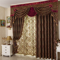 Arabic curtains Jacquard custom curtains for home living room