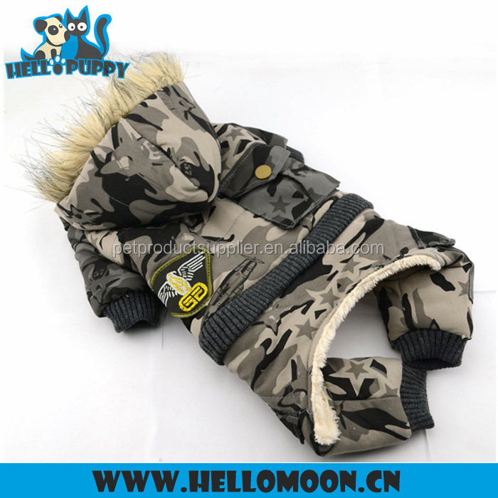 Fur Removable Camouflage Heavy Fleece Dog Clothes Bulk